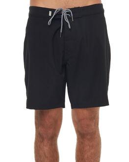 BLACK MENS CLOTHING RHYTHM BOARDSHORTS - JAN18M-TR07BLK