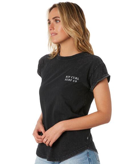 BLACK WOMENS CLOTHING RIP CURL TEES - GTECV20090
