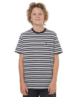 WHITE KIDS BOYS VOLCOM TEES - C0141701WHT