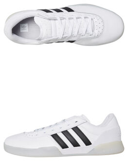 WHITE MENS FOOTWEAR ADIDAS SKATE SHOES - DB3075WBLK