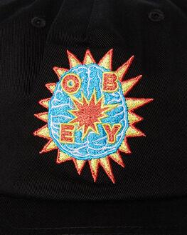 BLACK MENS ACCESSORIES OBEY HEADWEAR - 100570093BLK