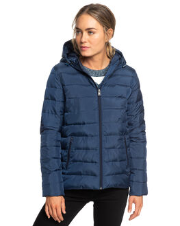 DRESS BLUES WOMENS CLOTHING ROXY JACKETS - ERJJK03250-BTK0