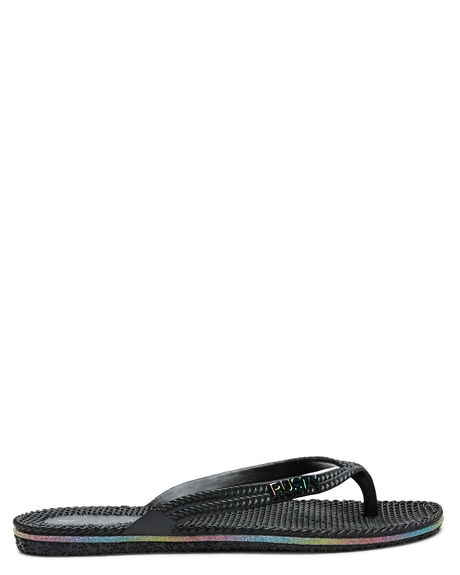 BLACK RAINBOW WOMENS FOOTWEAR RUSTY THONGS - FOL0125-BOW