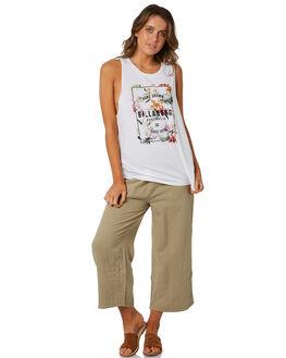 WHITE WOMENS CLOTHING BILLABONG SINGLETS - 6582183WHT