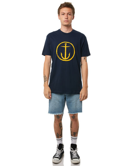 NAVY GOLD MENS CLOTHING CAPTAIN FIN CO. TEES - CT172200NGD