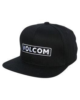 BLACK MENS ACCESSORIES VOLCOM HEADWEAR - D5531900BLK