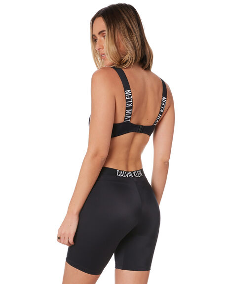 BLACK WOMENS CLOTHING CALVIN KLEIN ACTIVEWEAR - KW01053-BEHBLK