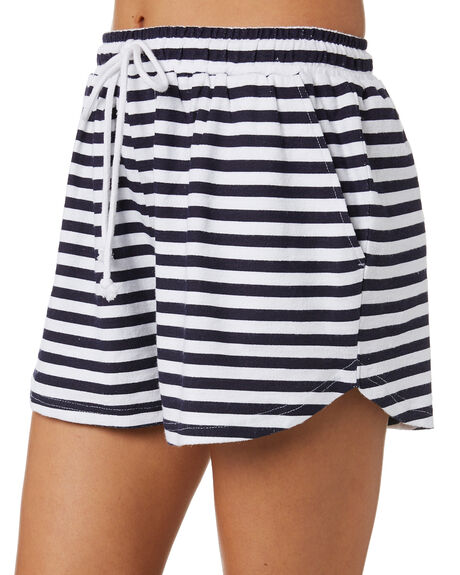 NAVY STRIPE WOMENS CLOTHING SWELL SHORTS - S8202235NVY