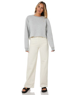 GREY MELANGE WOMENS CLOTHING COOLS CLUB JUMPERS - 404-CW6GYMEL