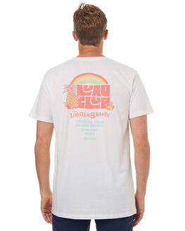WHITE MENS CLOTHING THE LOBSTER SHANTY TEES - LUAUCLUBWHT