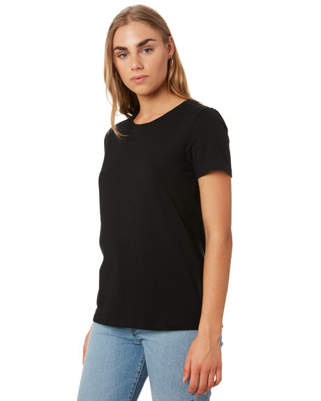 BLACK WOMENS CLOTHING BETTY BASICS TEES - BB252BLK