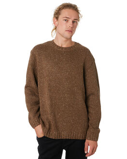 DARK COFFEE MENS CLOTHING RUSTY KNITS + CARDIGANS - CKM0326DCF