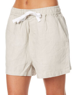 FLAX WOMENS CLOTHING ASSEMBLY SHORTS - AS-W1681FLX