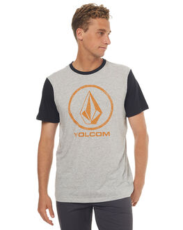 GREY MENS CLOTHING VOLCOM TEES - A5031773GRYM