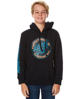 BLACK KIDS BOYS SANTA CRUZ JUMPERS - SC-YFC7038BLK