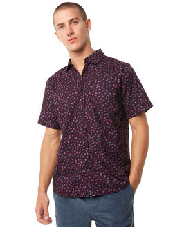 PURPLE MENS CLOTHING KATIN SHIRTS - WVSEE01PURP