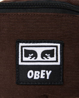 BROWN MENS ACCESSORIES OBEY BAGS + BACKPACKS - 100010098BRN