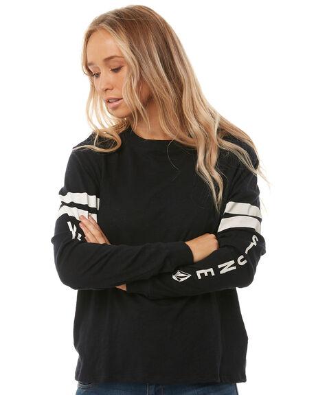 BLACK WOMENS CLOTHING VOLCOM TEES - B3541708BLK