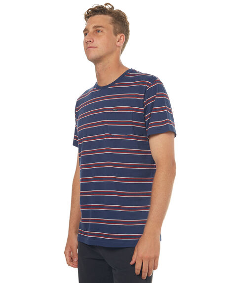 FEDERAL BLUE MENS CLOTHING RVCA TEES - R373045FBLU