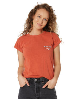 RED WOMENS CLOTHING RIP CURL TEES - GTEDJ20040