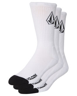 WHITE MENS CLOTHING VOLCOM SOCKS + UNDERWEAR - D6321800WHT