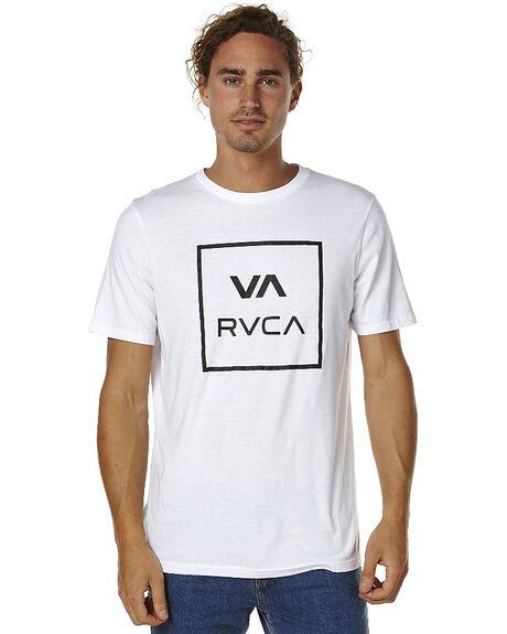 WHITE MENS CLOTHING RVCA TEES - R151049WHT