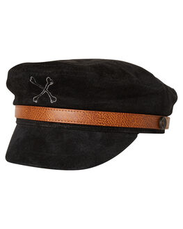 BLACK MENS ACCESSORIES BILLY BONES CLUB HEADWEAR - BBCHAT003BLK