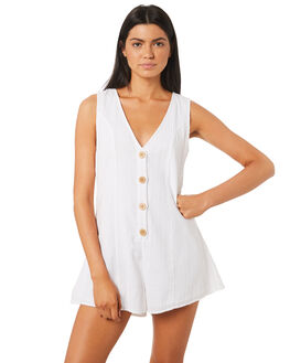 WHITE WOMENS CLOTHING INSIGHT PLAYSUITS + OVERALLS - 5000003271WHT