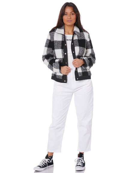 BLACK WOMENS CLOTHING MISFIT JACKETS - MT105700BLK
