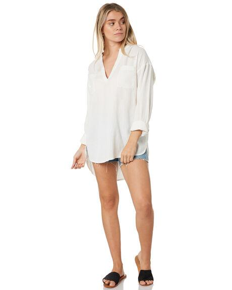 WHITE WOMENS CLOTHING RIP CURL FASHION TOPS - GSHGX11000