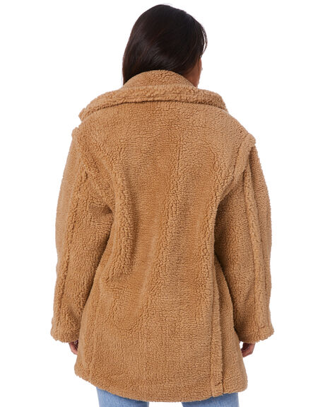 TAN WOMENS CLOTHING SNDYS JACKETS - SFJ073TAN