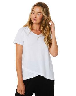 WHITE WOMENS CLOTHING BETTY BASICS TEES - BB344T20WHT