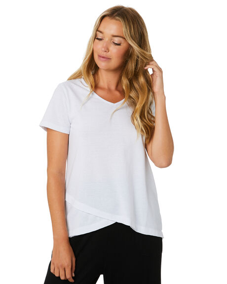 WHITE WOMENS CLOTHING BETTY BASICS TEES - BB344T20WHT