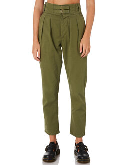 ARMY GREEN WOMENS CLOTHING THRILLS PANTS - WTA9-402FARMY