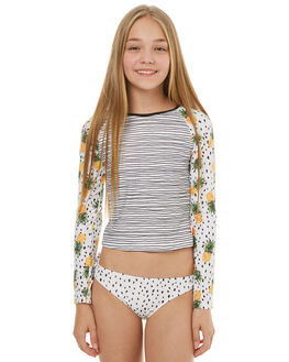 WHITE BLACK KIDS GIRLS SEAFOLLY SWIMWEAR - 27005WHTBK