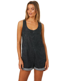 ACID BLACK WOMENS CLOTHING SWELL PLAYSUITS + OVERALLS - S8184450ACDBK