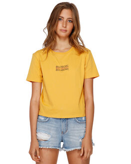 HONEY GOLD WOMENS CLOTHING BILLABONG TEES - BB-6591005-HOG