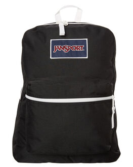 BLACK WHITE MENS ACCESSORIES JANSPORT BAGS - JST08WBKWH