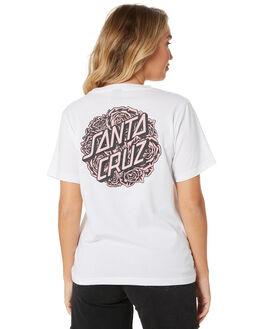 WHITE WOMENS CLOTHING SANTA CRUZ TEES - SC-WTA0103WHITE