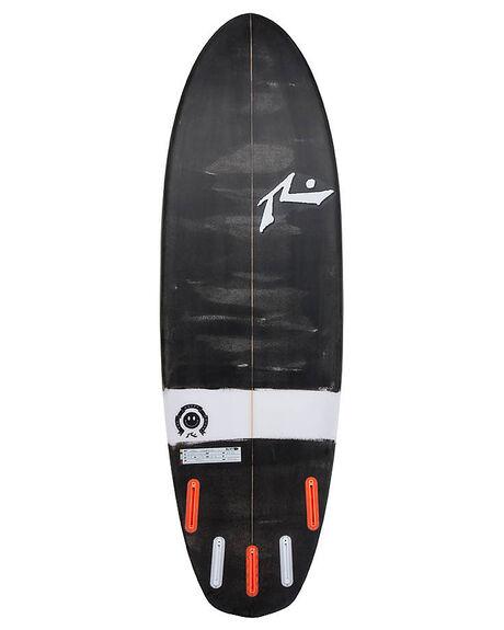 BLACK WHITE SURF SURFBOARDS RUSTY SMALL WAVE - RUHAPPYSHOVELBLKWH