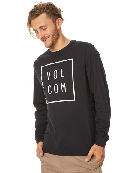 BLACK MENS CLOTHING VOLCOM TEES - A3631772BLK
