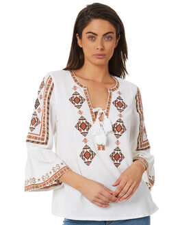 WHITE WOMENS CLOTHING TIGERLILY FASHION TOPS - T381032WHT