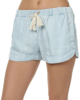 CHAMBRAY WOMENS CLOTHING ALL ABOUT EVE SHORTS - 6481024LBLU