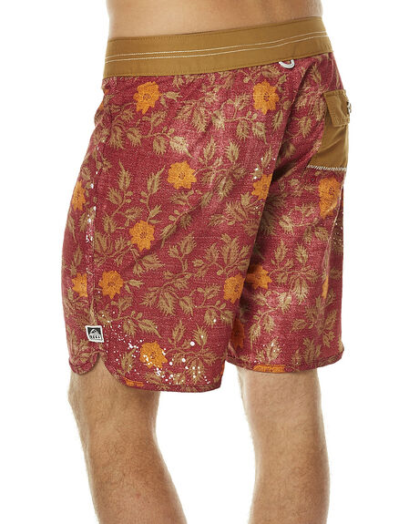 RED MENS CLOTHING REEF BOARDSHORTS - A436RED