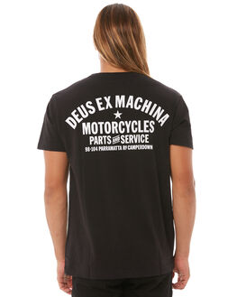 BLACK MENS CLOTHING DEUS EX MACHINA TEES - DMW41808ABLK