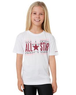 WHITE KIDS GIRLS CONVERSE TOPS - R46A286001