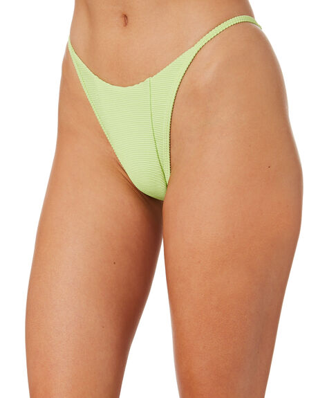 RIBBED LIME OUTLET WOMENS LAHANA BIKINI BOTTOMS - LS-SOR-B-RLIM