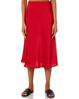 RED WOMENS CLOTHING LULU AND ROSE SKIRTS - LU23705RED