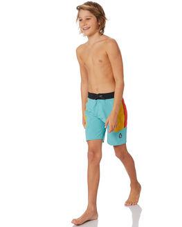 MYSTO GREEN KIDS BOYS VOLCOM BOARDSHORTS - C0812004MYS