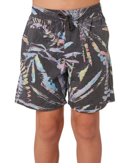 BLACK KIDS BOYS RIP CURL SHORTS - KWAML10090